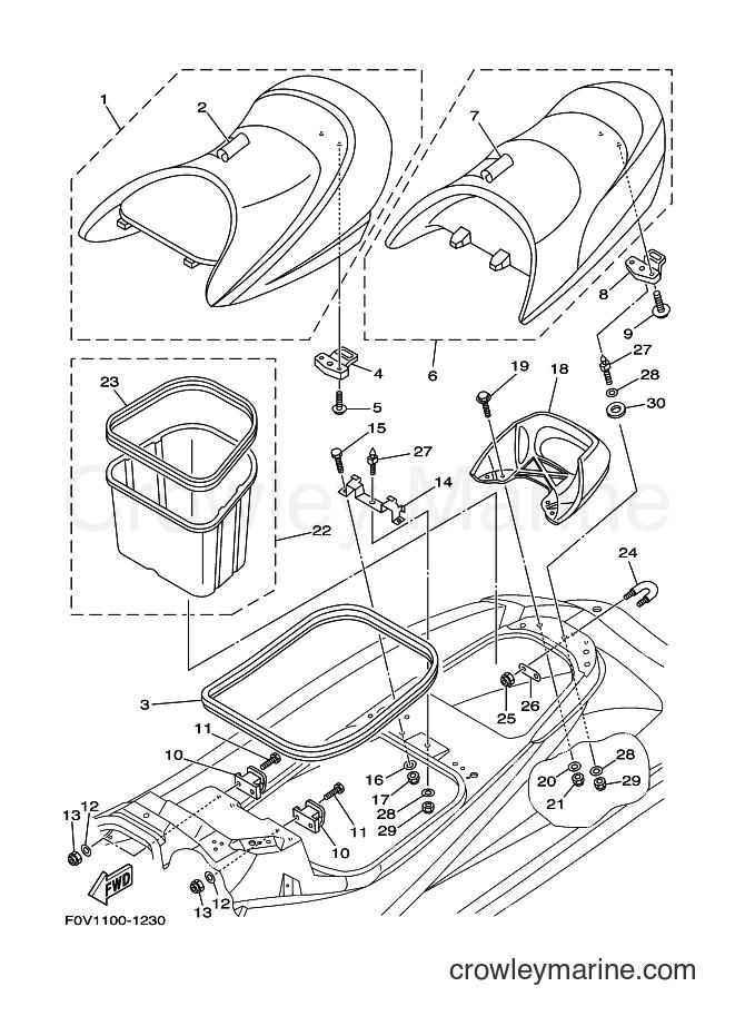 2003 Components JET FOR XA1200 - JET FOR XA1200 (68NE) [02A] - SEAT & UNDER LOCKER