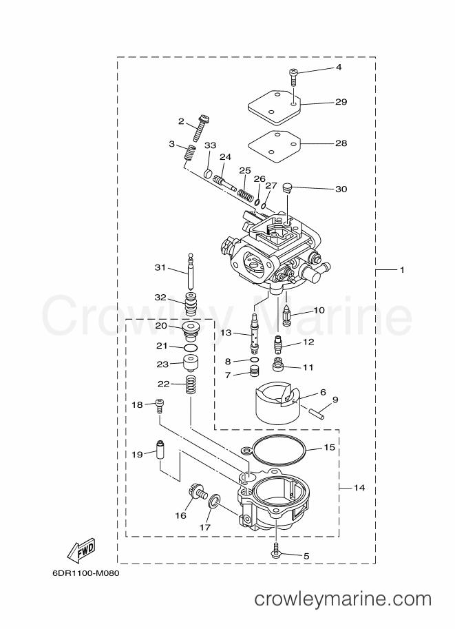 2013 Yamaha International 9.9hp - F9.9LEHB-2013 (6DR1) [180] CARBURETOR section