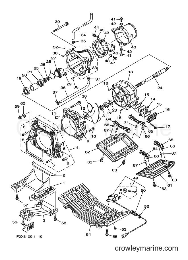 2001 WaveRunner GP800A-Z - GP800A-Z (F0W1) [030] - JET UNIT 1