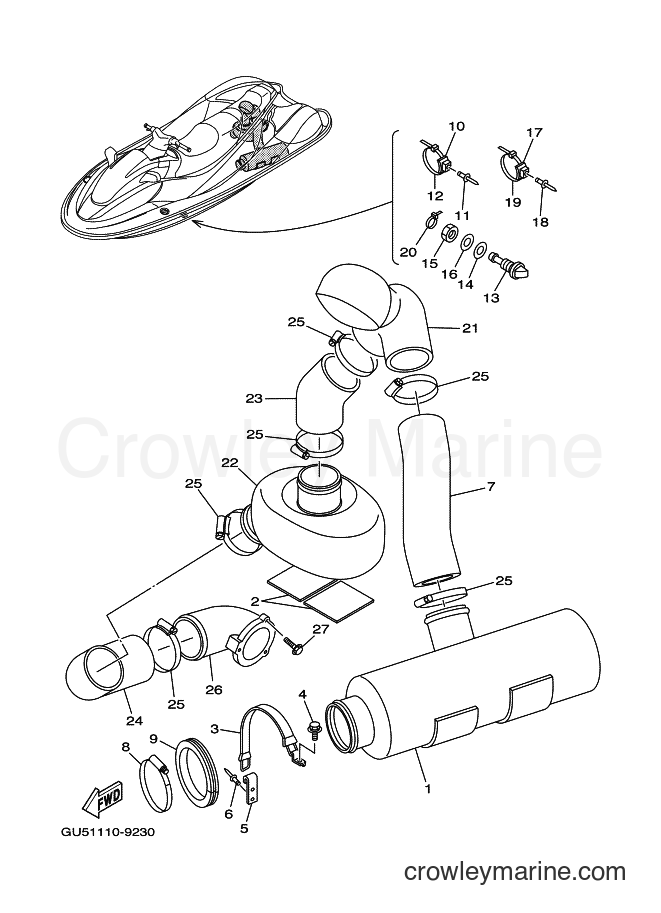 2000 Components JET FOR SV1200Y - JET FOR SV1200Y (66G2) [01A] - EXHAUST 2