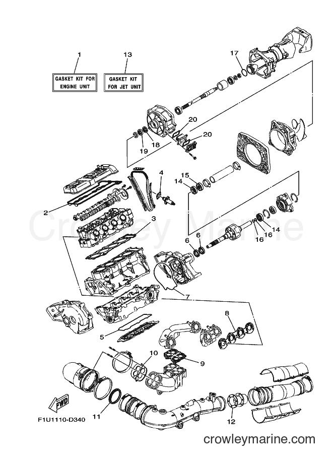 2009 Watercraft FAT1100A-H - FAT1100A-H (F2G3) [020] - REPAIR KIT 1