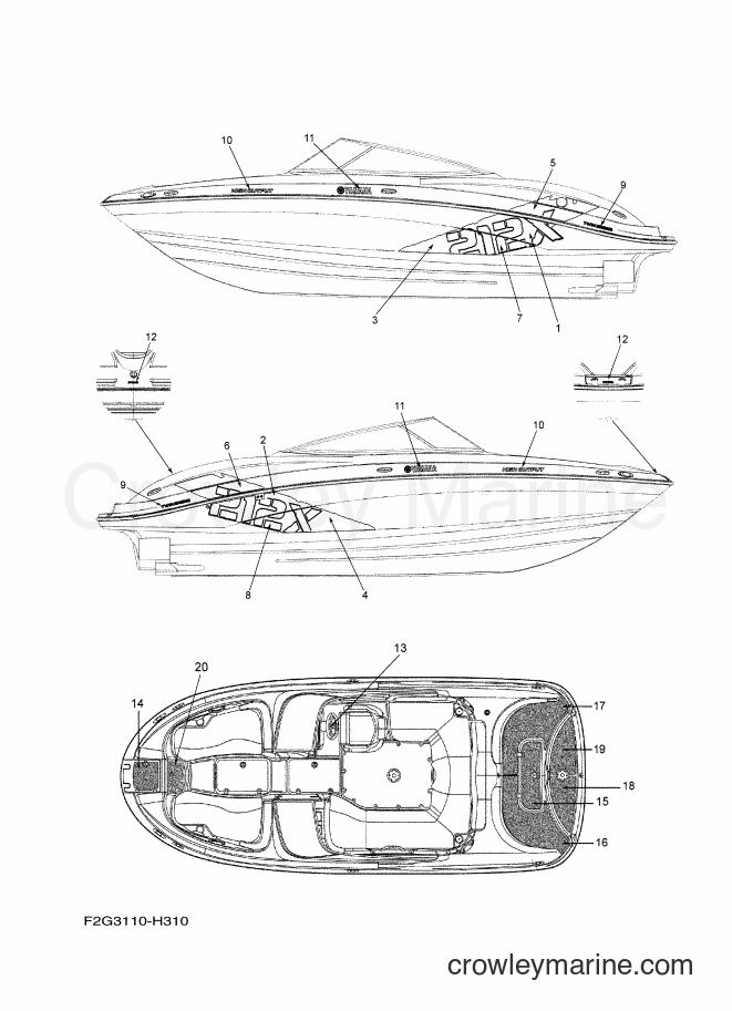 2009 Watercraft FAT1100A-H - FAT1100A-H (F2G3) [020] - GRAPHICS