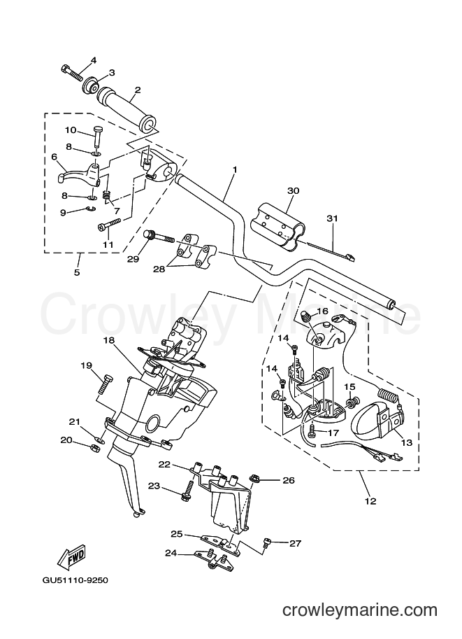2000 Components JET FOR SV1200Y - JET FOR SV1200Y (66G2) [01A] - STEERING 1