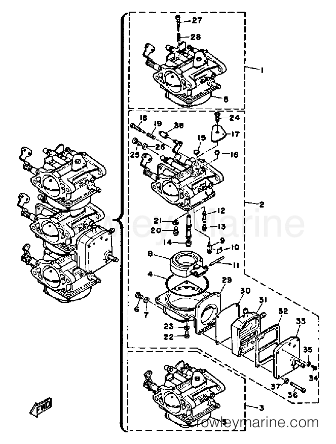 Carburetor adjustment Yamaha 30 hp Two Stroke