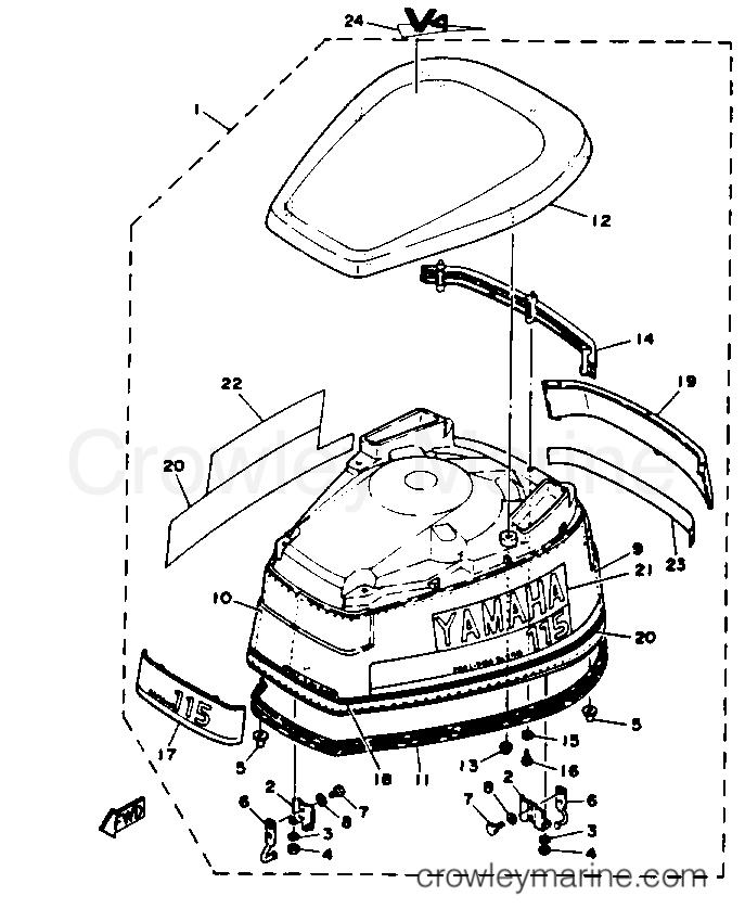 Yamaha 6N7-42615-00-00 SEAL