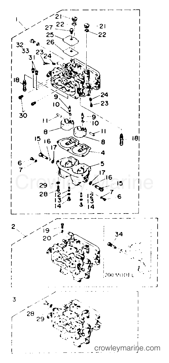 Yamaha Outboard Carburetor Diagram
