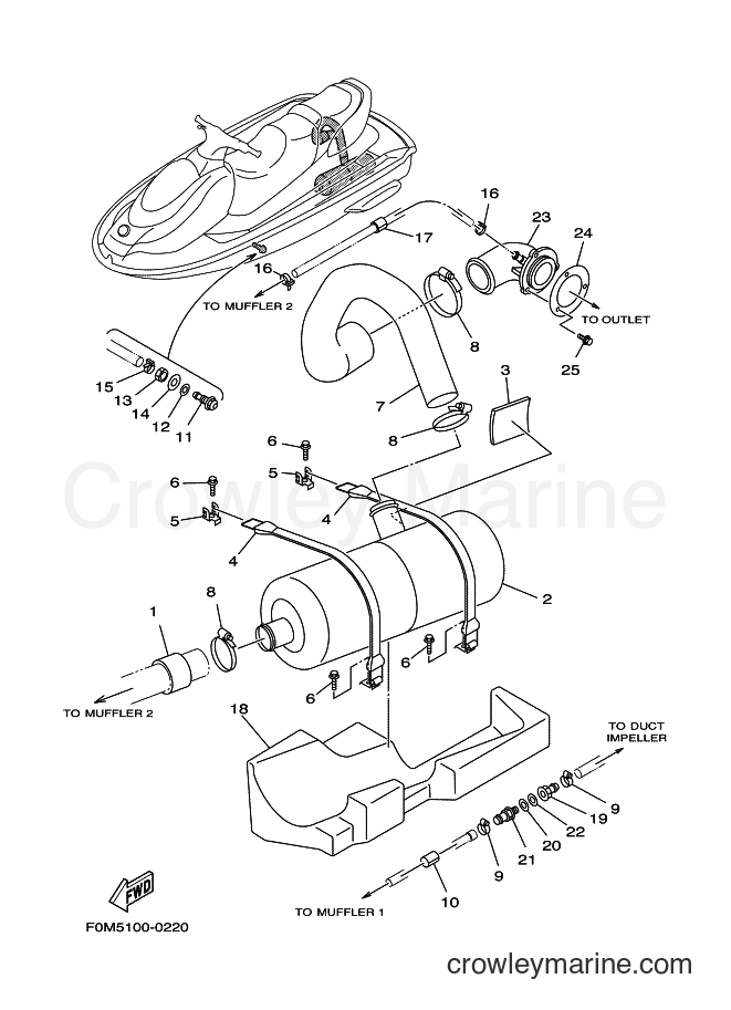 2001 Components JET FOR XL700 - JET FOR XL700 (67EC) [02A] - EXHAUST 2