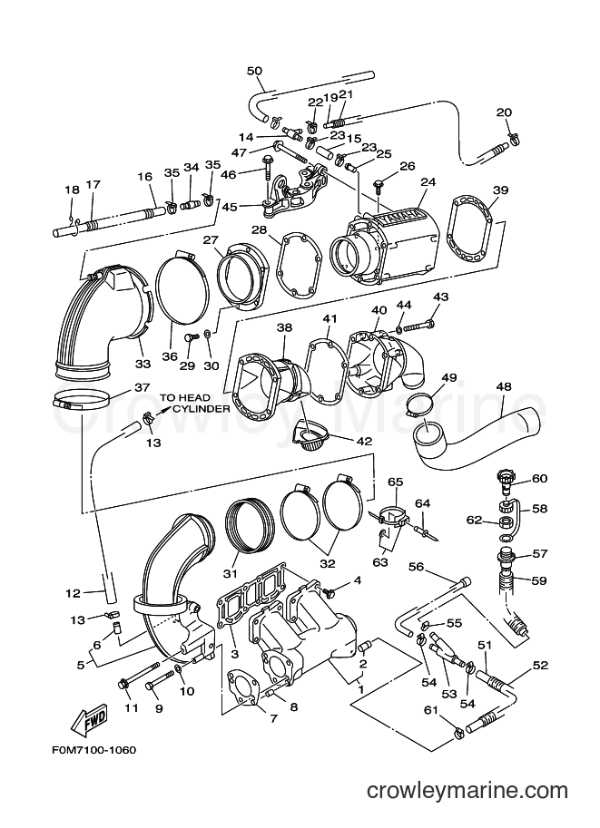 2001 Components JET FOR XL700 - JET FOR XL700 (67EC) [02A] - EXHAUST 1