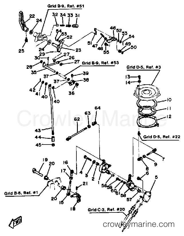 1985 Yamaha Outboard 25hp 25sk Control Engine Section: Yamaha Outboard Engine Diagram At Hrqsolutions.co