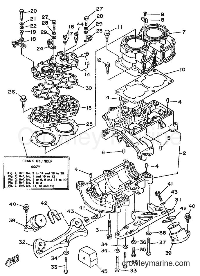 1989 WaveRunner WR650 - WR650 (FK7) [999] - CYLINDER & CRANKCASE