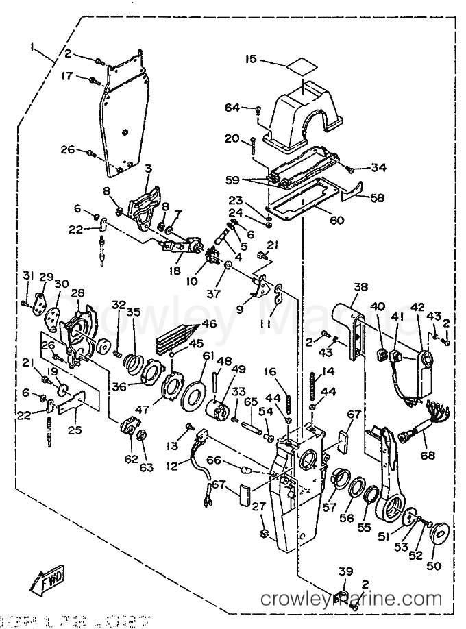 1992 50 Hp Johnson Outboard Motor Diagram