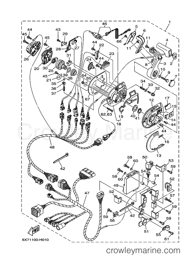 2009 Yamaha International RIGGING - DBW CONCEALED TYPE (6X71) [000] - DBW REMOTE CONTROL