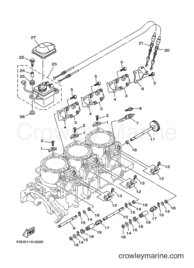 2003 Components JET FOR XA1200 - JET FOR XA1200 (68NE) [02A] - CYLINDER & CRANKCASE 2