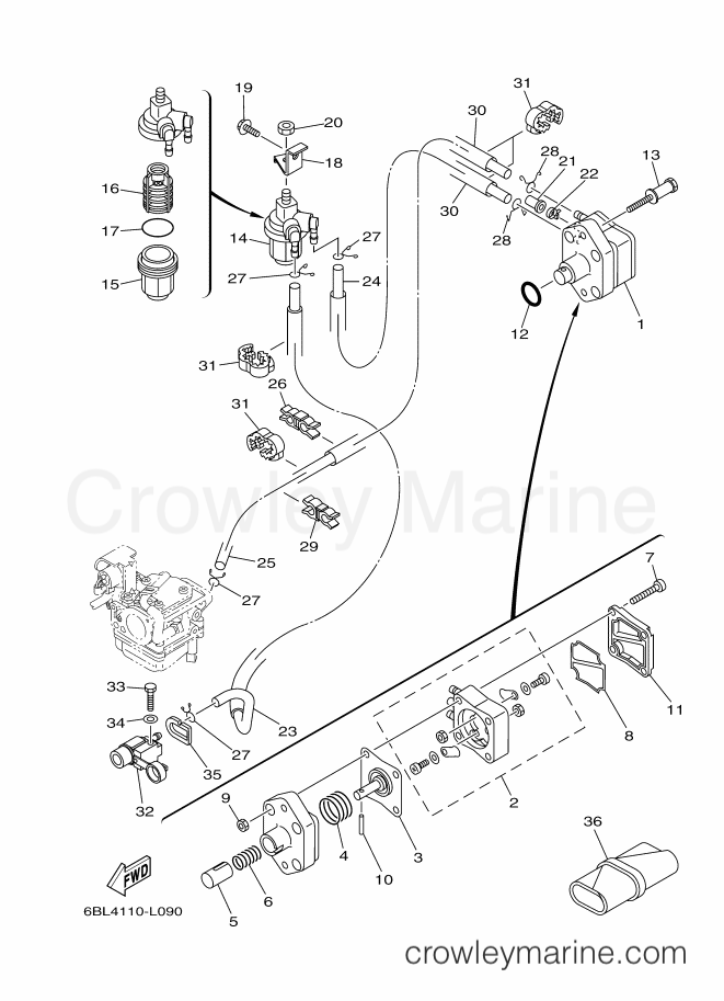 2013 Yamaha International 25hp - F25LEA-2013 (6BP6) [520] FUEL section