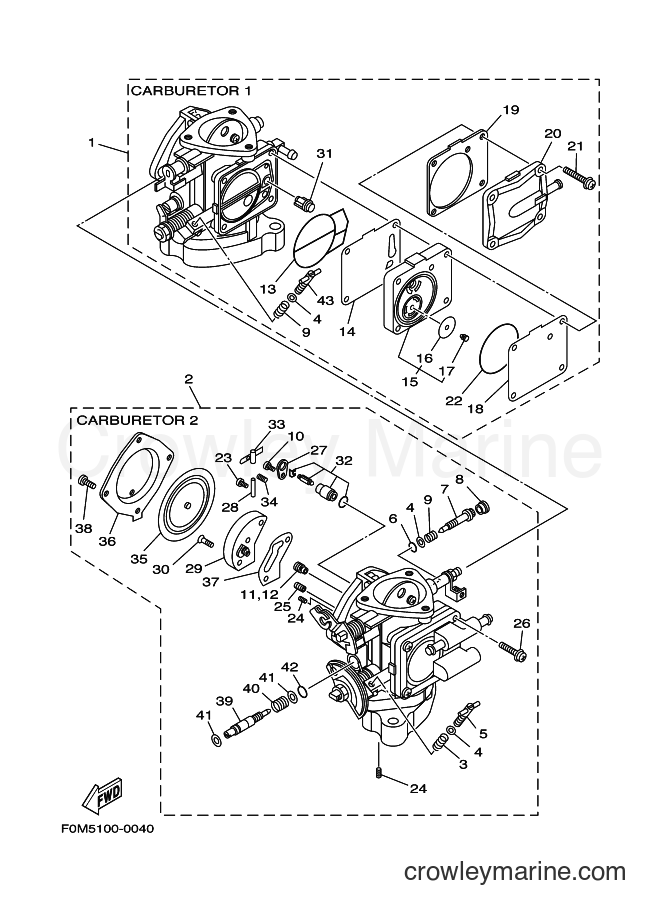2001 WaveRunner XL700Z - XL700Z (F0M7) [03A] - CARBURETOR
