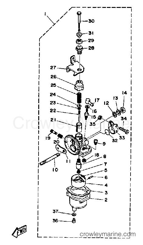 CARBURETOR - 1988 Yamaha Outboard 2hp 2SG | Crowley Marine