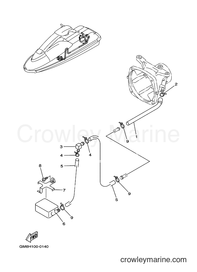 2001 WaveRunner SJ700A-Z - SJ700A-Z (GM6K) [020] - HULL & DECK