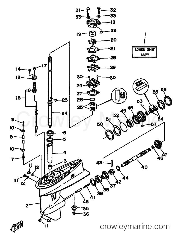 Yamaha Lower Unit Parts Diagram
