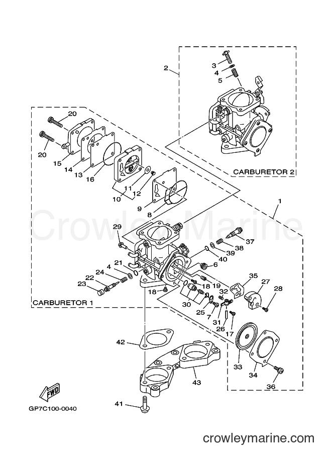 2001 WaveRunner GP760-Z - GP760-Z (GP7D) [02A] - CARBURETOR
