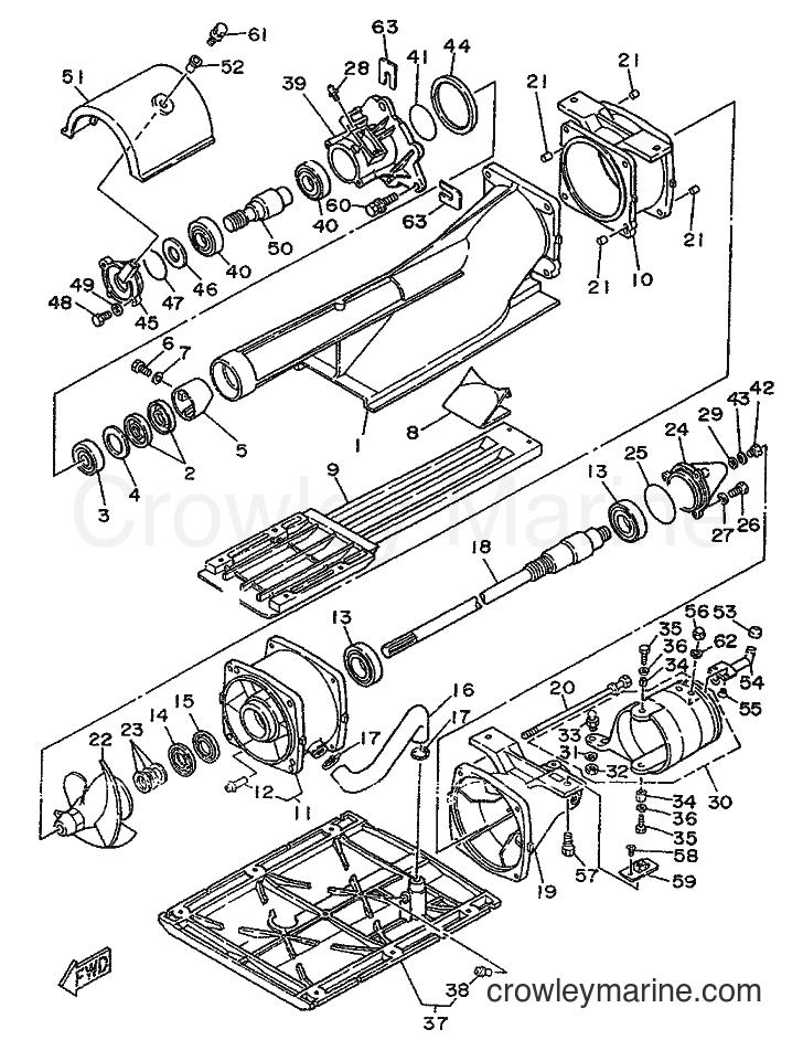 1989 WaveRunner WR650 - WR650 (FK7) [999] - JET UNIT 1