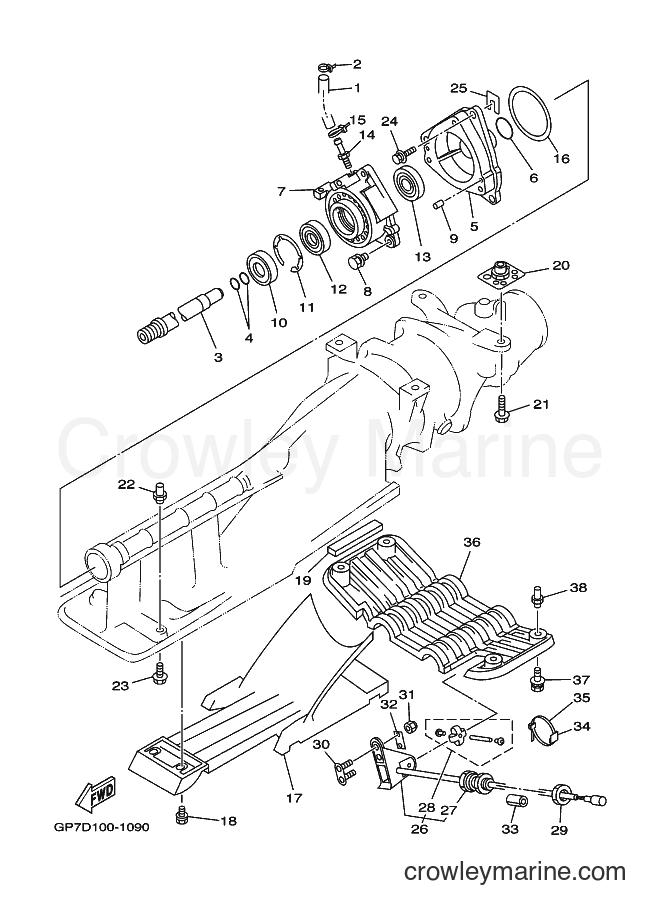 2001 WaveRunner GP760-Z - GP760-Z (GP7D) [02A] - JET UNIT 2