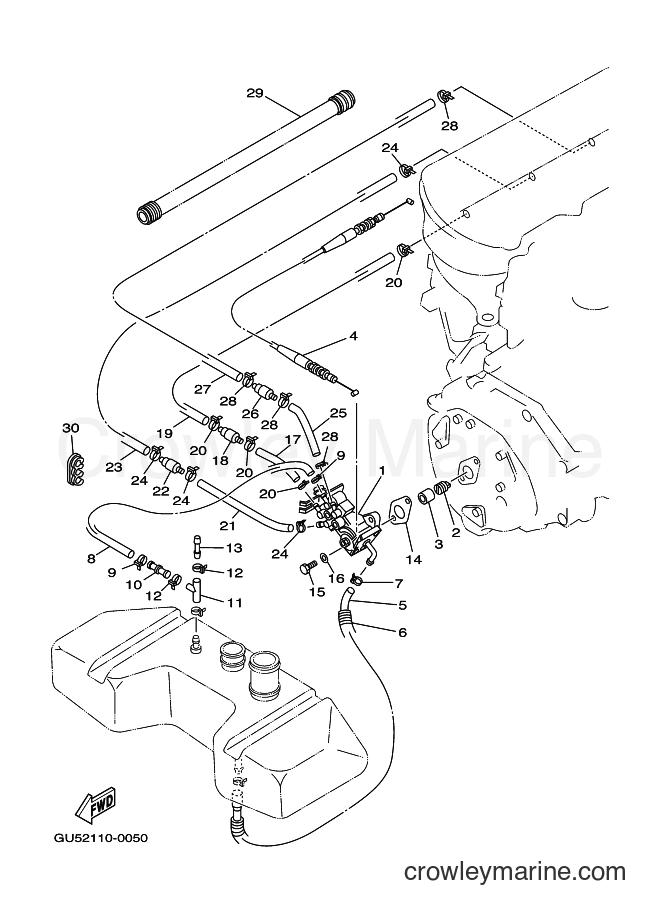 2001 WaveRunner SV1200A-Z - SV1200A-Z (F1D4) [010] - OIL PUMP
