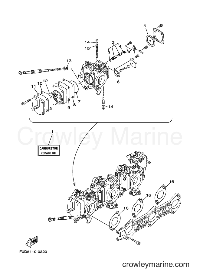 2001 WaveRunner GP1200A-Z - GP1200A-Z (F0X3) [03A] - REPAIR KIT 2