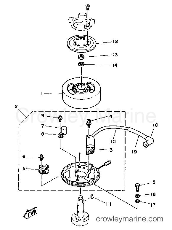 1989 Yamaha Outboard 2hp 2sf Generator Section: Yamaha 2hp Outboard Parts Diagram At Daniellemon.com