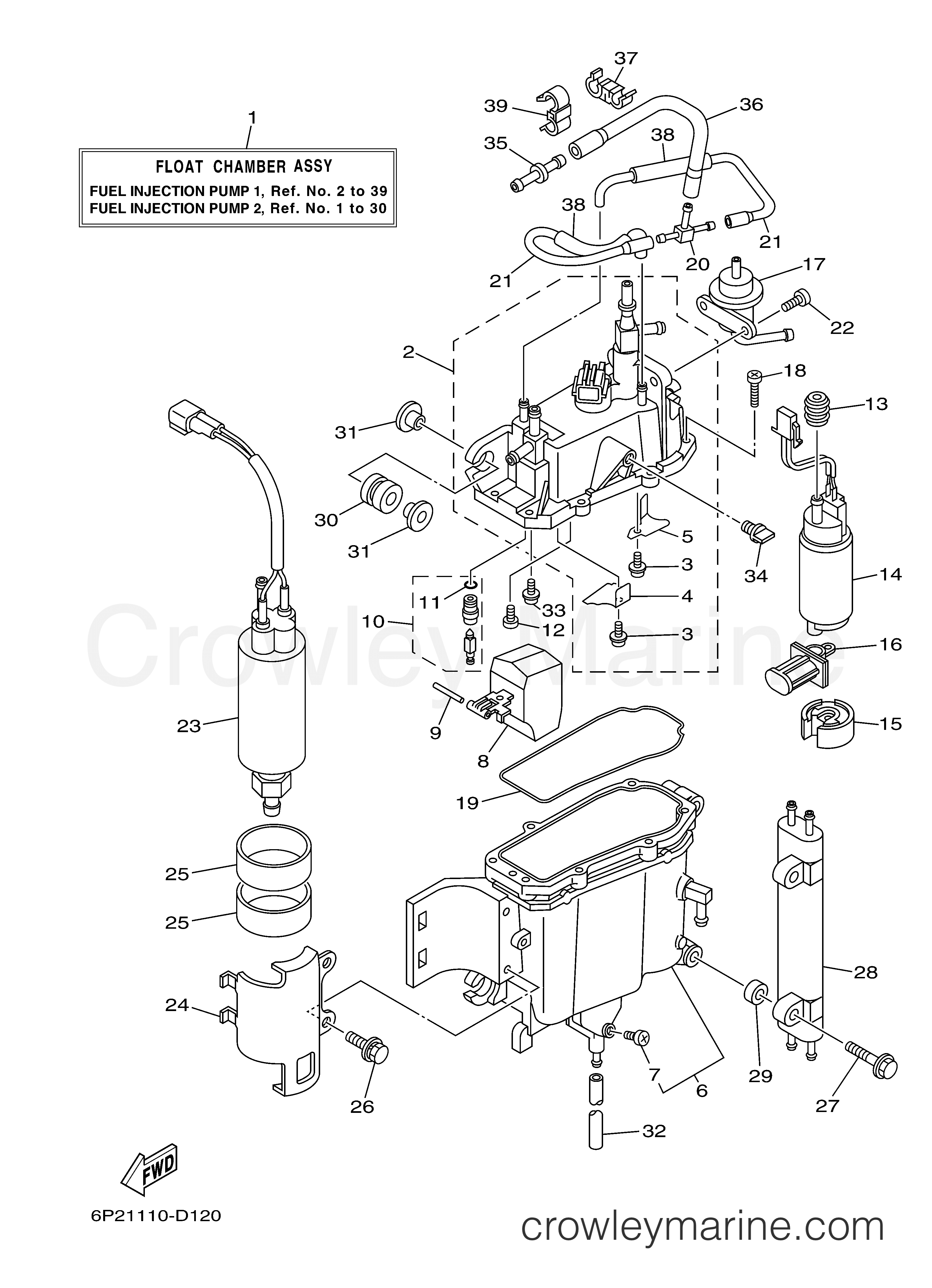 Diagram Of 2005 F90tjrd Yamaha Outboard Fuel Injection Pump 1 Diagram