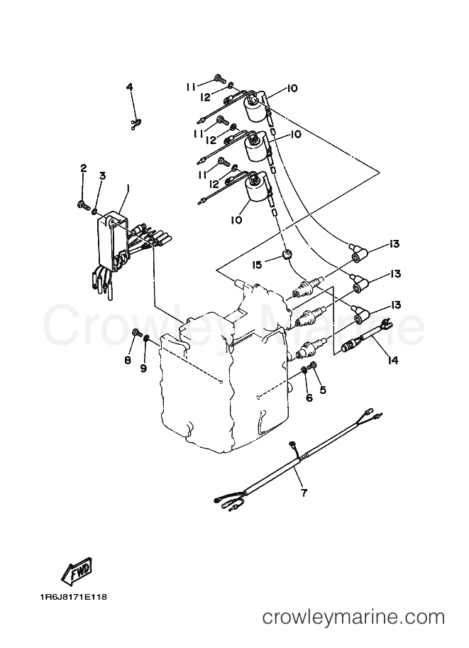 Electrical 1 1993 Yamaha International 30hp 30d 6j8 030 Wiring Diagram Zuma: Yamaha Bws Wiring Diagram At Hrqsolutions.co