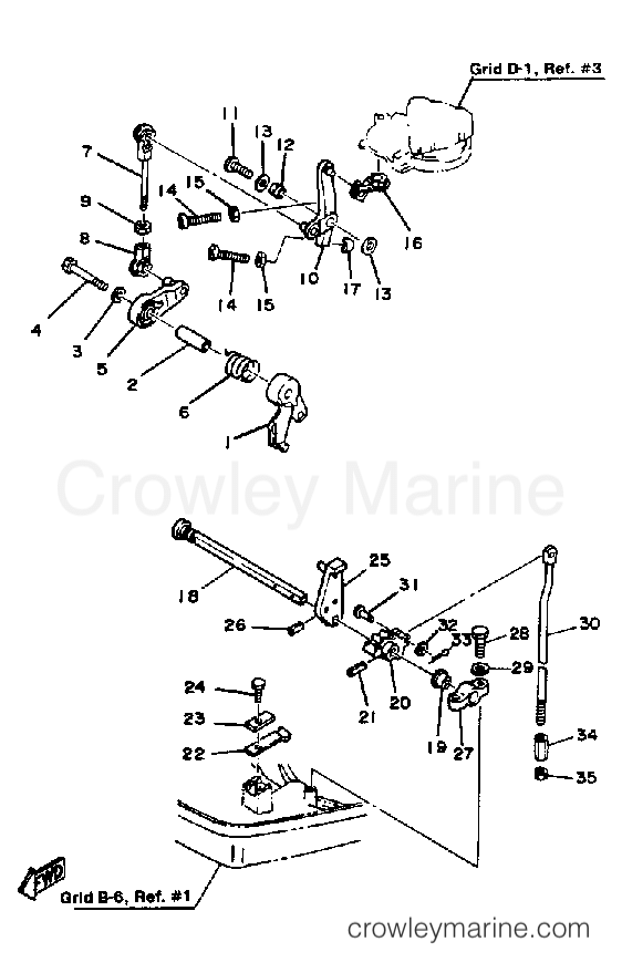 1984 Mercury Quicksilver Gear Shifter