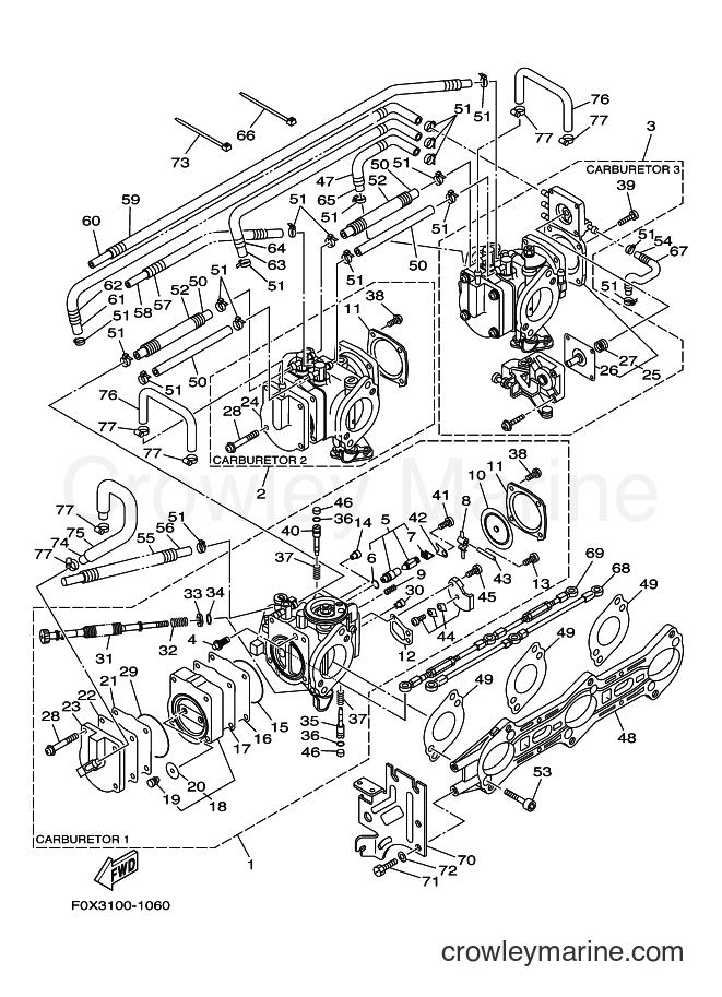2001 WaveRunner GP1200A-Z - GP1200A-Z (F0X3) [03A] - CARBURETOR 2