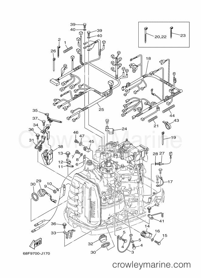 2010 yamaha international 150hp - z150qetol (68jd) [050] - electrical 2  section