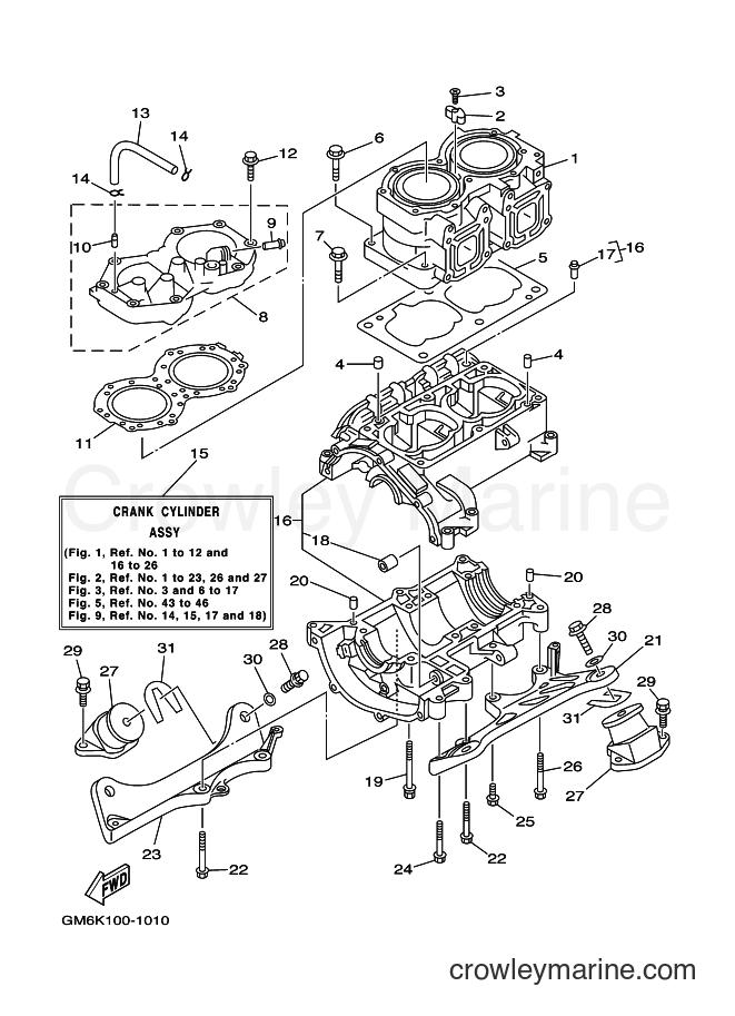 2001 WaveRunner SJ700A-Z - SJ700A-Z (GM6K) [020] - CYLINDER & CRANKCASE