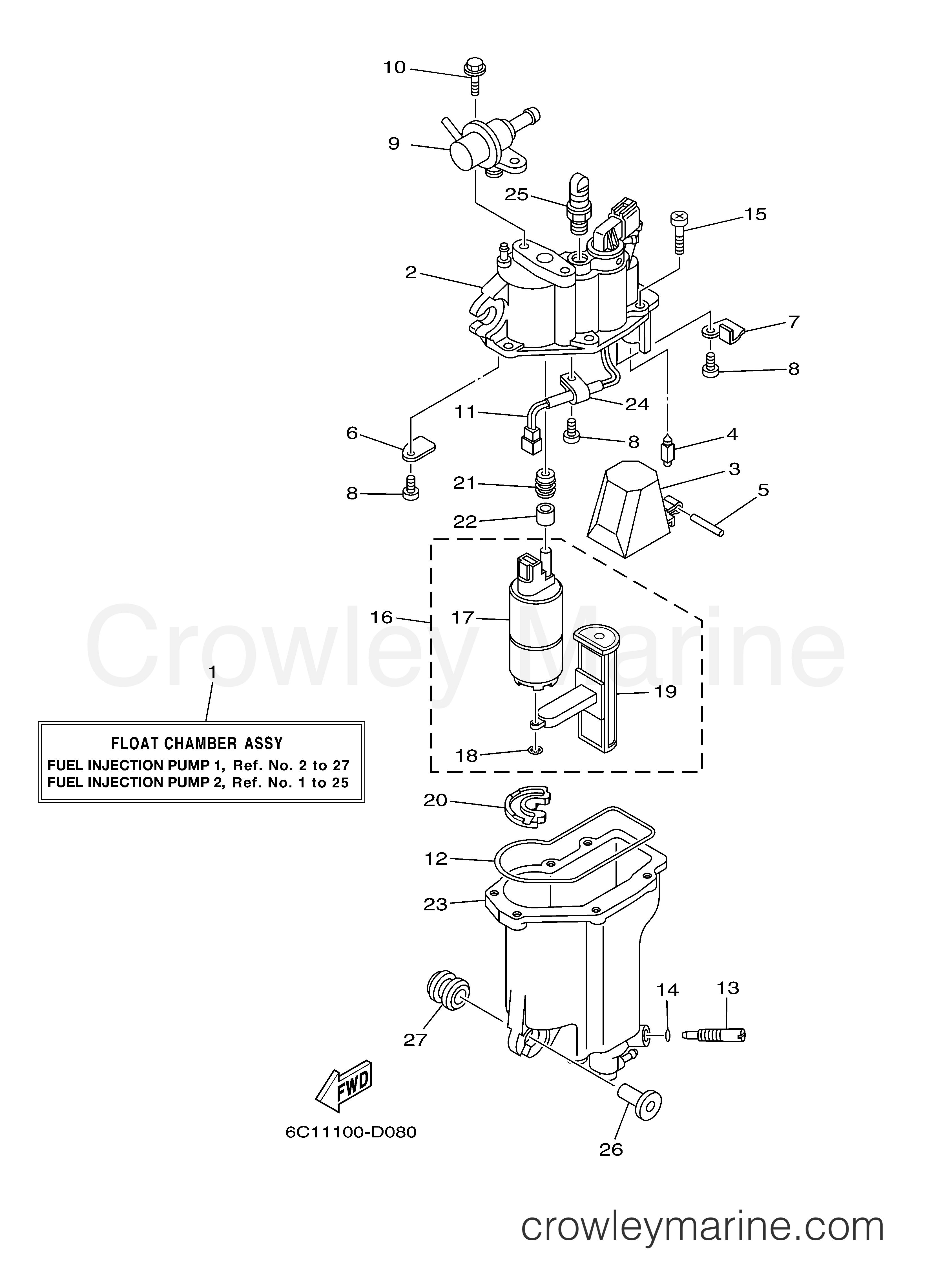 fuel injection pump 1 2005 yamaha outboard 60hp f60tlr With diagram of 2005 f225txrd yamaha outboard fuel injection pump 1 diagram