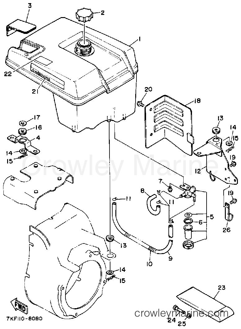 1988 Yamaha Outdoor Equipment 828 - YS828WM - FUEL TANK