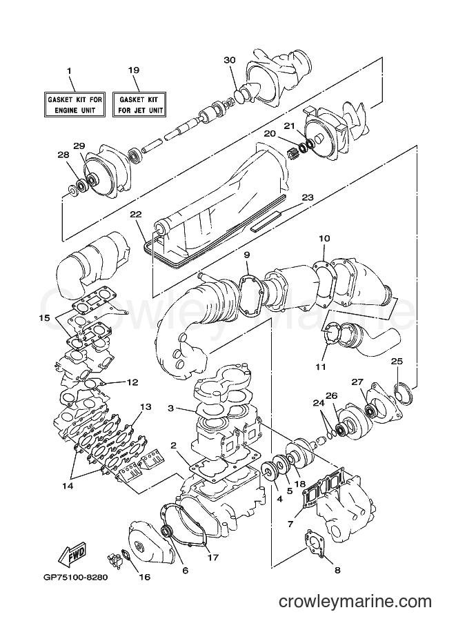 2001 WaveRunner GP760-Z - GP760-Z (GP7D) [02A] - REPAIR KIT 1