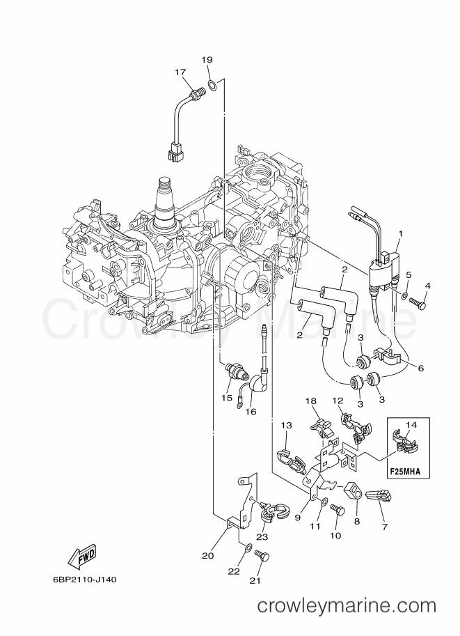 2013 Yamaha International 25hp - F25LEA-2013 (6BP6) [520] - ELECTRICAL 2 section