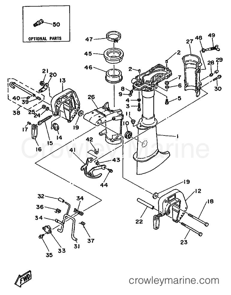 upper casing bracket 1988 yamaha international 4hp 4ac 6e0 Yamaha Waverunner Engine Diagram 1988 yamaha international 4hp 4ac 6e0 999 upper casing