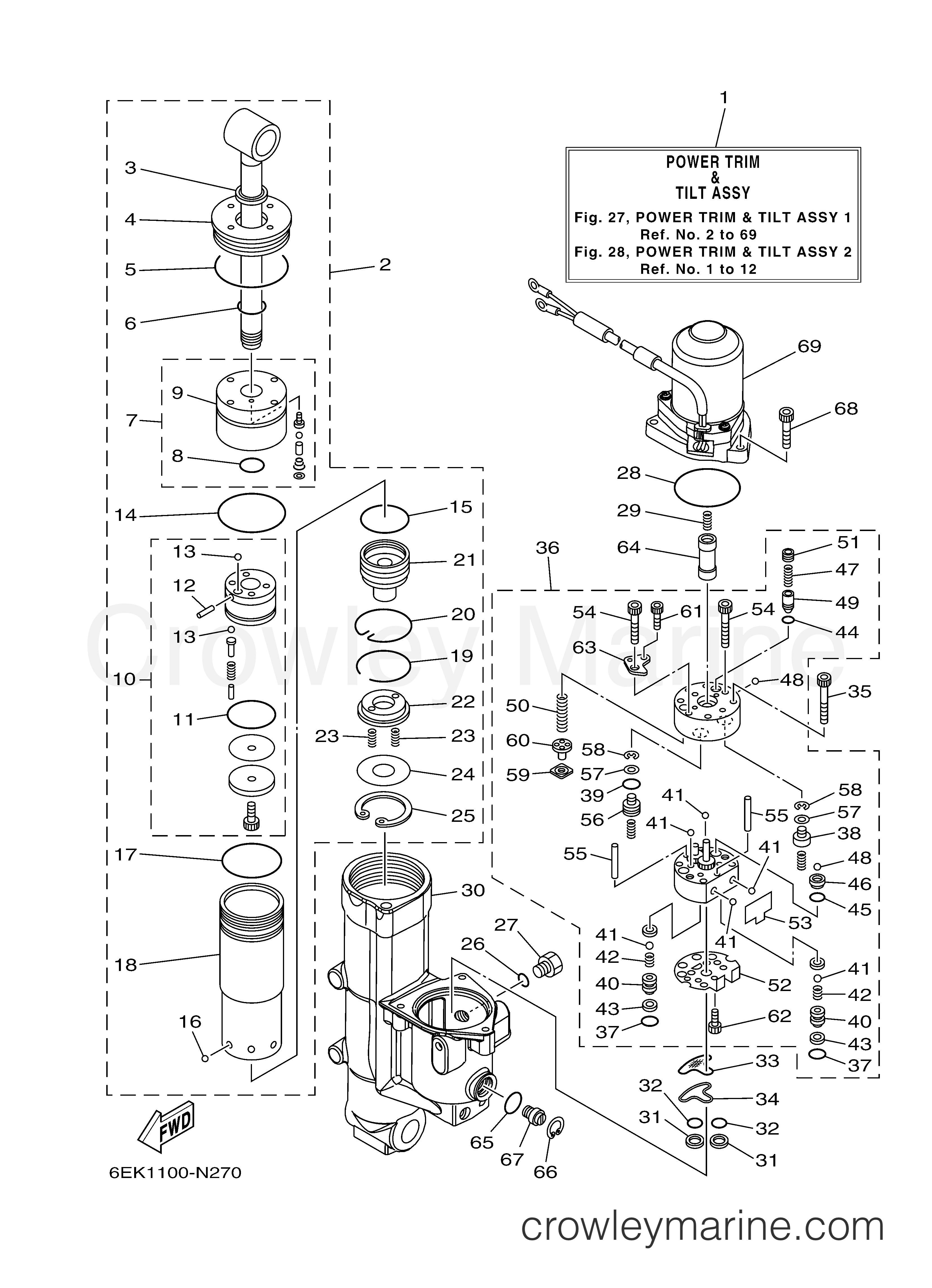 power trim tilt assy 1
