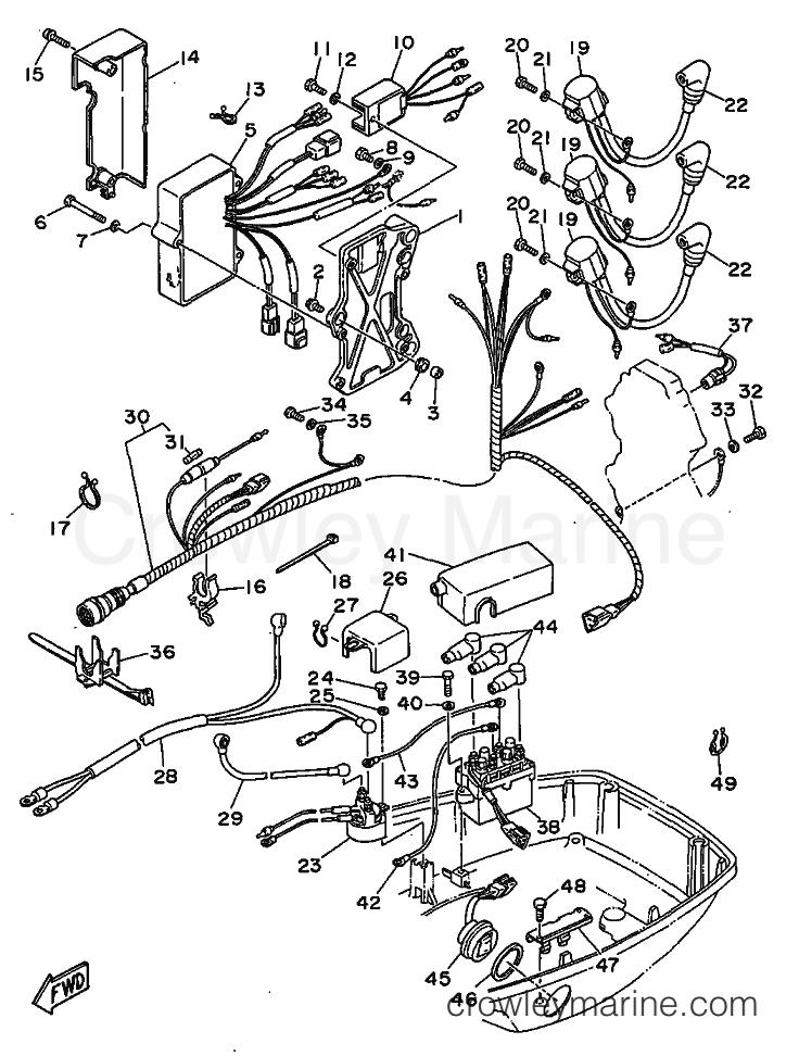 1999 Yamaha International 60hp - 60FEDO (6H2) [120] - PARTIE ELECTRIQUE 1 section