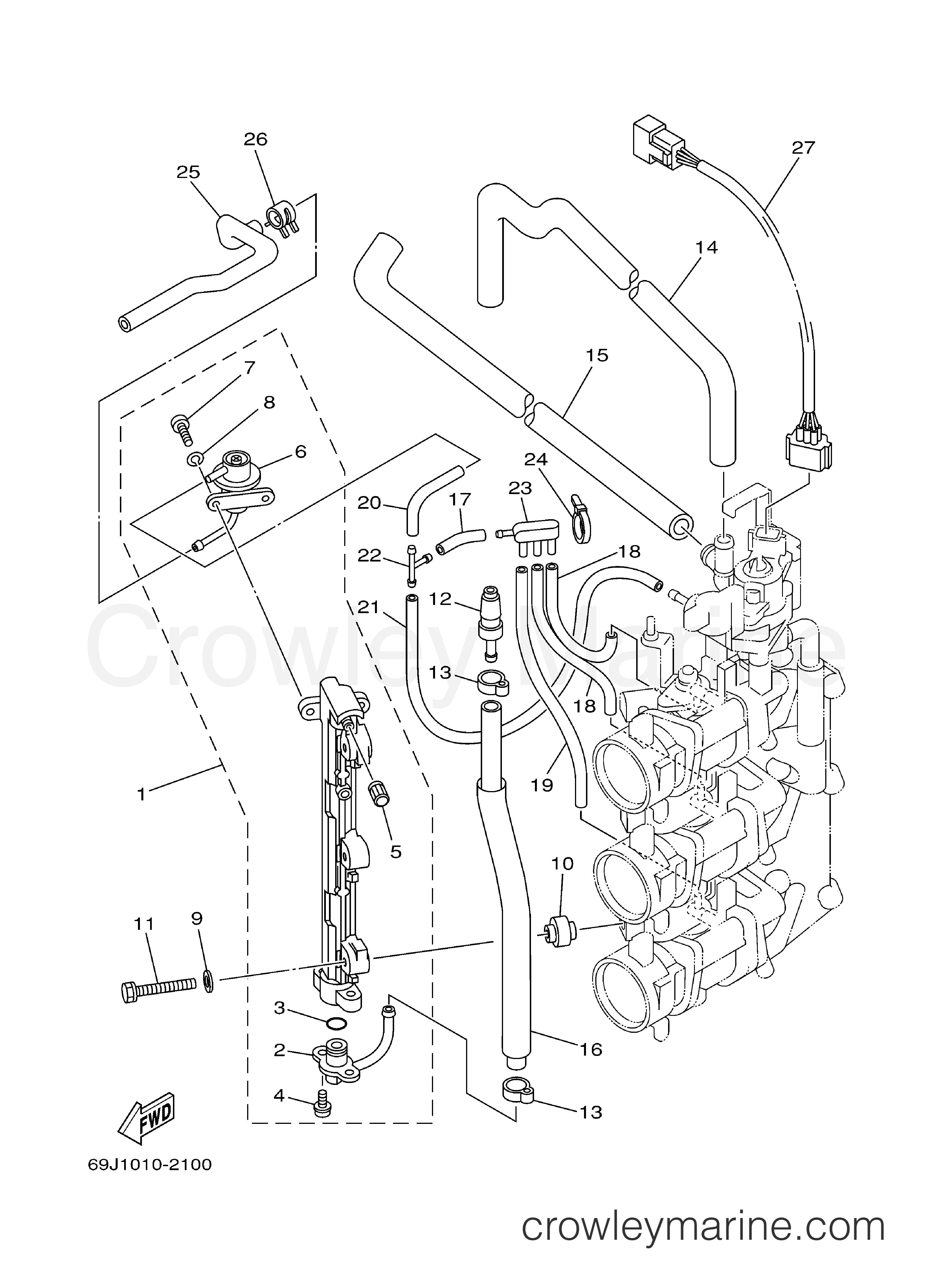 Yamaha 68V-24387-00-00 CLIP