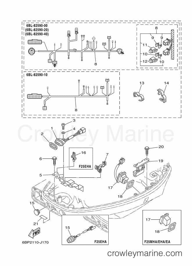 2013 Yamaha International 25hp - F25LEA-2013 (6BP6) [520] ELECTRICAL 5 section