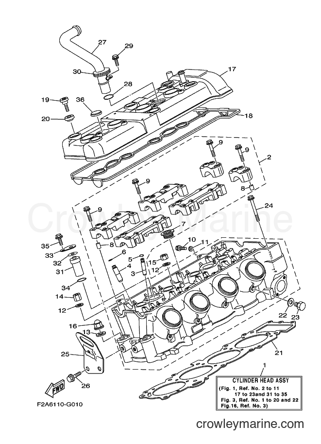 2009 Watercraft FAT1100A-H - FAT1100A-H (F2G3) [020] - CYLINDER HEAD
