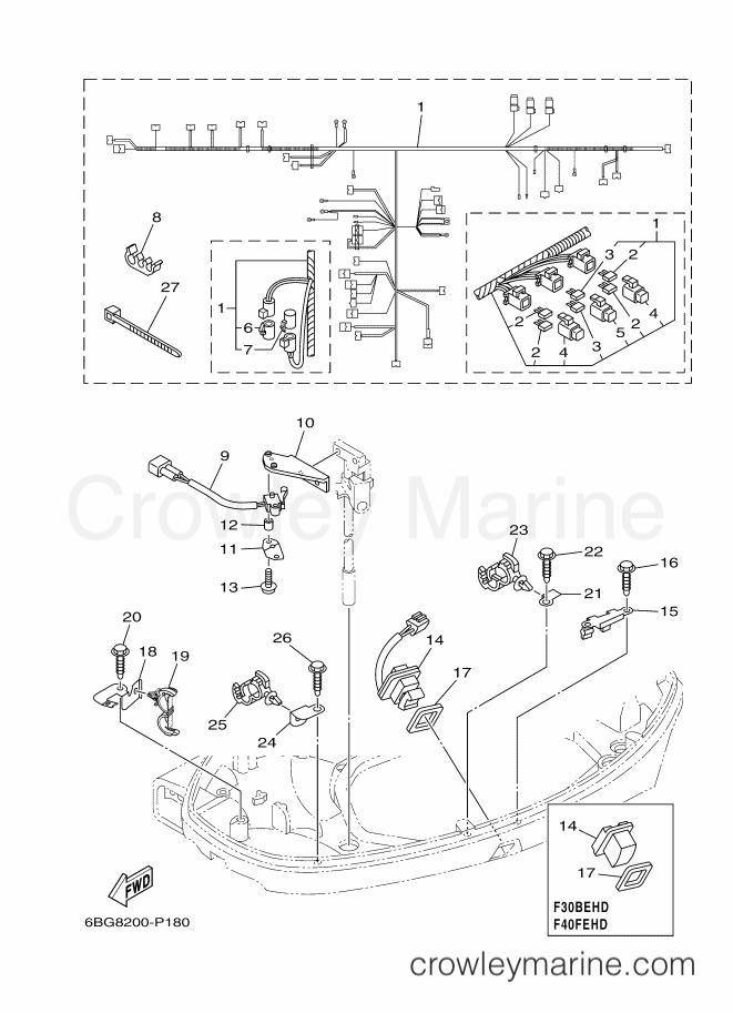 ELECTRICAL 5 - 2017 Yamaha International 40hp F40FETL (6BGA ... on hp power supply diagram, hp cable diagram, hp parts diagram, hp computer diagram, hp networking diagram, hp piping diagram, hp panel diagram, hp battery diagram, hp hardware diagram,