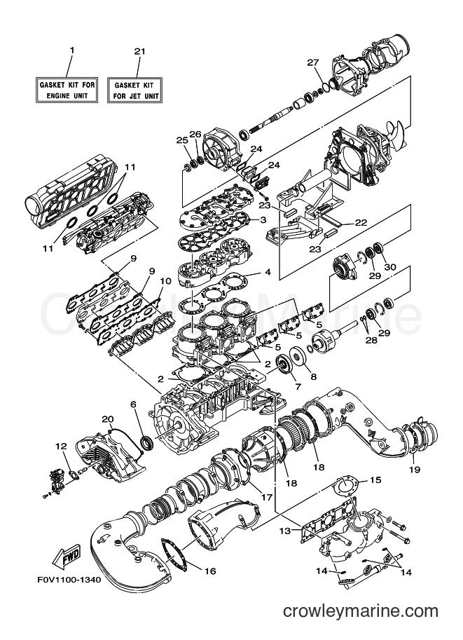 2001 WaveRunner XA1200A-Z - XA1200A-Z (F0V1) [030] - REPAIR KIT 1