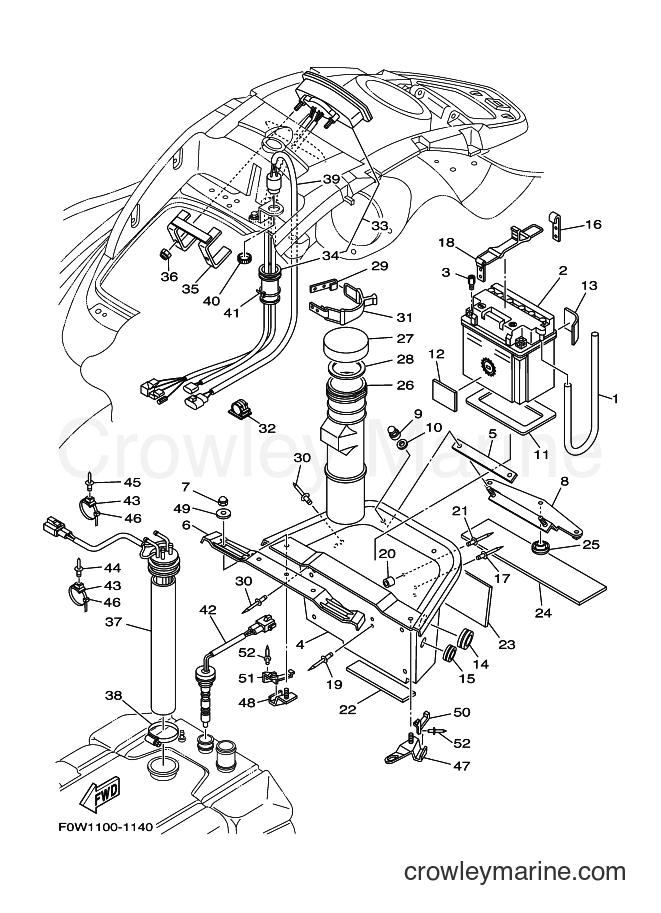 2001 WaveRunner GP800A-Z - GP800A-Z (F0W1) [020] - ELECTRICAL 2