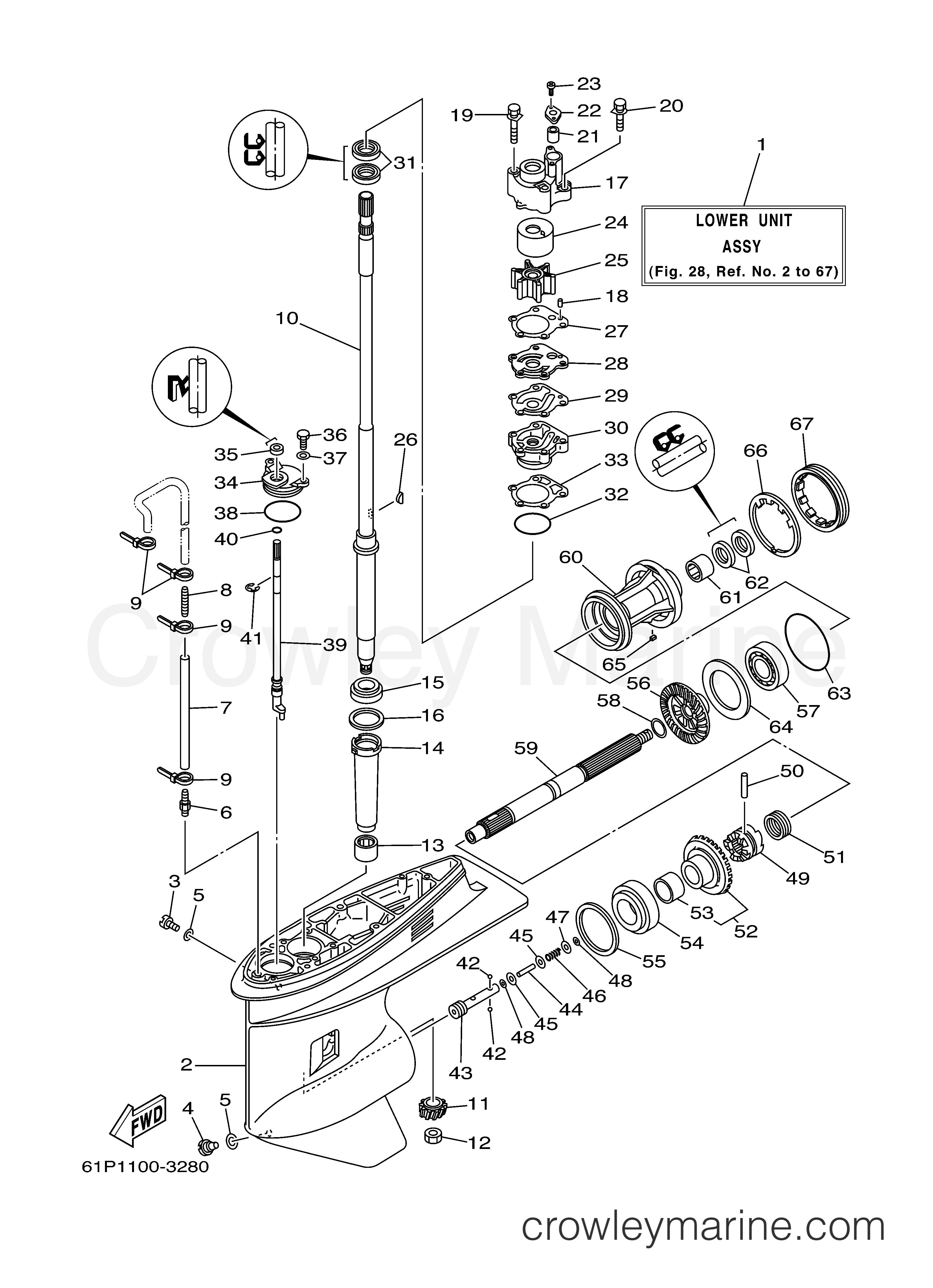 lower casing drive 1 2003 yamaha outboard 90hp f90tlrb crowley Yamaha Bear Tracker 250 Parts Diagram 2003 yamaha outboard 90hp f90tlrb lower casing drive 1 section