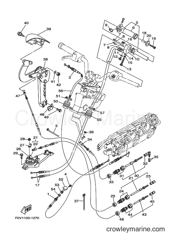 2001 WaveRunner XA1200A-Z - XA1200A-Z (F0V1) [02A] - CONTROL CABLE