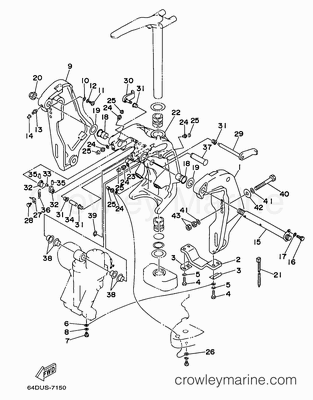 Diagram Of 1999 40ejrx Yamaha Outboard Starting Motor Diagram And